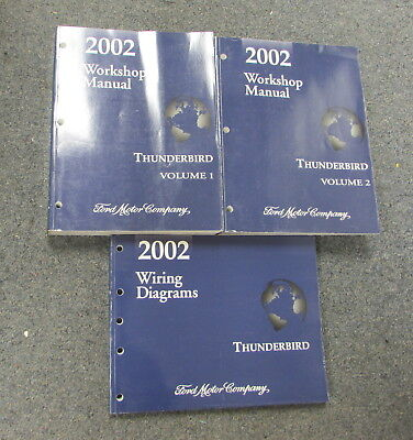 2002 ford thunderbird service repair shop workshop manual set 02 t rh picclick com