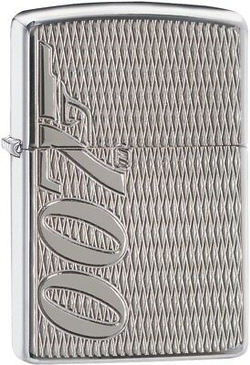 Zippo Choice James Bond 007 Armor Collection Lighter High Polish Chrome 29550
