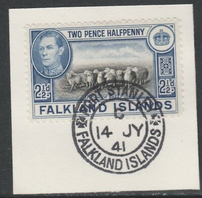 Falkland Is 5294 - 1938 KG6 2.5d with MADAME JOSEPH FORGED POSTMARK