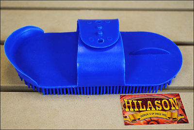 Blue Hilason Horse Grooming Large Plastic Curry Comb With Handle