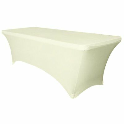 OpenBox URBY 4 ft Spandex Fitted Stretch Tablecloth Rectangular Table Cover Ivor