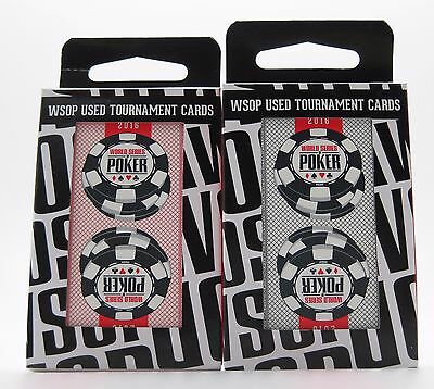 Set of 2 Decks Original World Series of Poker Used Copag Plastic Playing Cards *