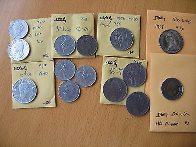 Italy Lot of 14 great coins, some silver - check out my other listings!