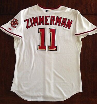 0a499c39906 2009 Ryan Zimmerman Signed Game Used Worn Nats Jersey Home Run Photo Matched