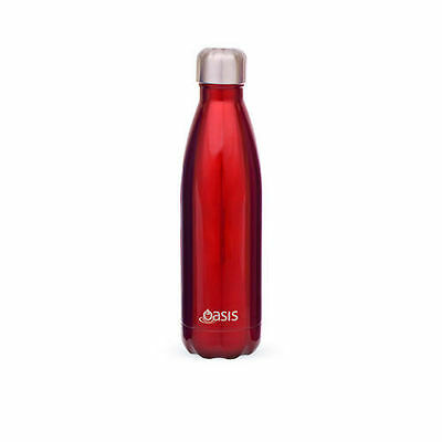 Oasis Stainless Steel Double Wall Insulated Water Bottle 1 Litre Red