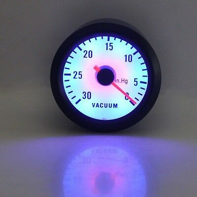 "CAR AUTO Motor 2"" 52mm 30-10 In.Hg TURBO VACUUM POINTER GAUGE METER"