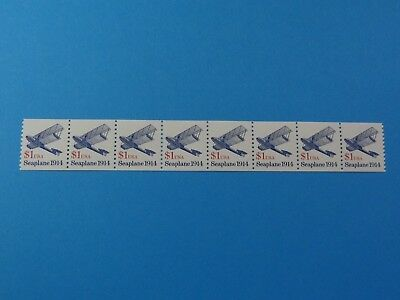Stamps US * SC 2468b * Transportation Issue Coil Strip 8 * MNH Shiny Gum $1 1993