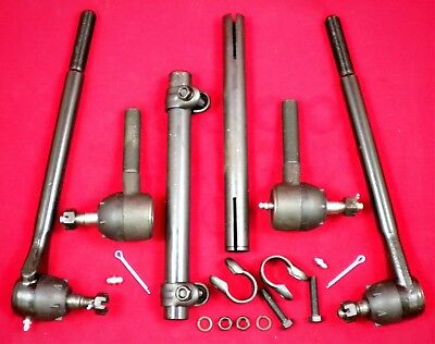 Pontiac 1963 - 1964 Inner & Outer Tie Rod Ends with Sleeves (6pc set)
