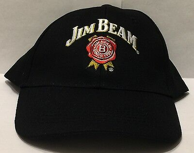 Jim Beam Traditional Logo Black Hat Adjustable Cap Brand New Never Worn