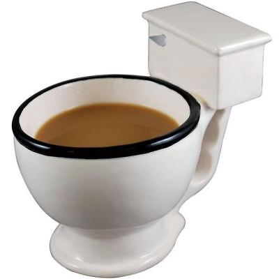 Giant Toilet Mug Novelty Ceramic Kitchenware Bowl Cup for Tea Coffee Soup Cereal