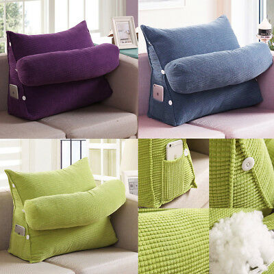 Adjustable Sofa Bed Cushion Waist Rest Neck Support Back Wedge Pillow Backrest