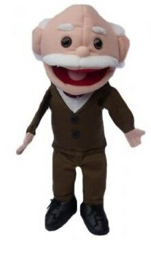 "Granddad Puppet Ernest 15"" Ventriloquist.Play,Educational.Movingmouth & hands"