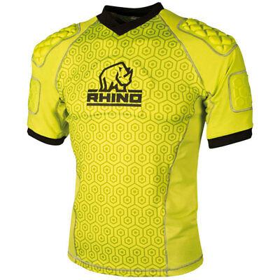 Rhino Rugby - Lightweight Pro Body Protection Top Yellow - All Sizes