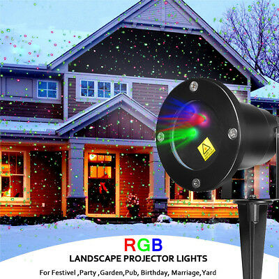RGY Laser Projector Stage Lights DJ Party Show Xmas LED Lighting 80 Pattern Lamp