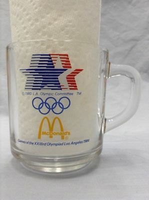McDonald's Mug 1984 United States USA Olympics Anchor Hocking Clear Glass Sports