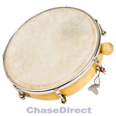 "Chase 10"" Hand Drum Latin Percussion WIth Natural Tune-Able Goat Skin Tuning Key"
