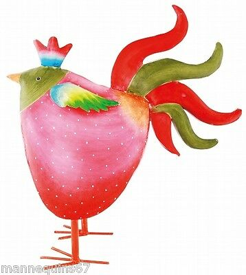 Grande Figurine Metal Poule Decoration Jardin Maison Cuisine Design