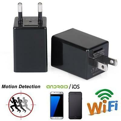 WiFi HD 1080P Spy Camera Hidden USB AC Adapter Wall Charger Motion Detection TL