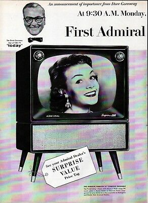 Old Admiral Televisions TV 4 Models Ad