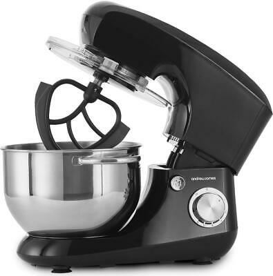 Andrew James Food Stand Mixer 5.5L Bowl 4 Attachments 800W Dough Hook Beater