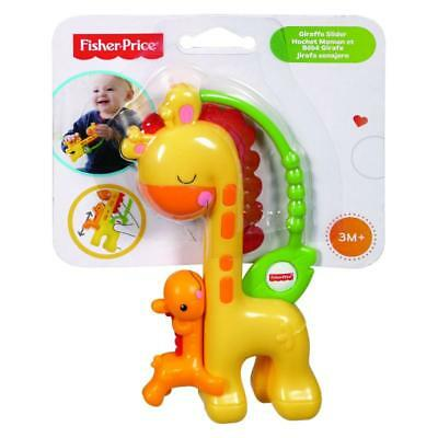 Fisher Price Giraffe Slider Baby Rattle Teether Official 3M+
