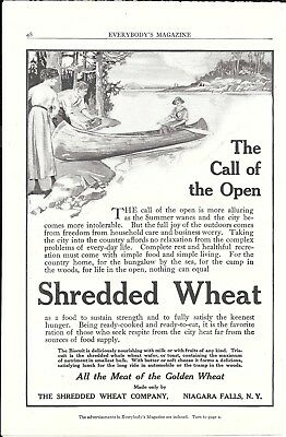 Old Cream Of Wheat Cereal The Call Of The Open Ad Woman In Canoe
