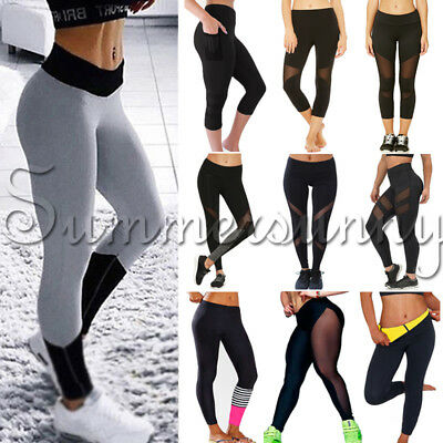 Women's Sports YOGA Gym Fitness Leggings Stretchy Pants Athletic Clothes US S935