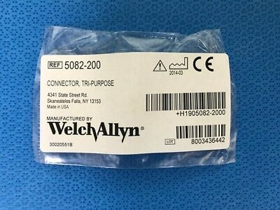 Welch Allyn BP Connector TRI-PURPOSE NEW/SEALED 1 Each #5082-200