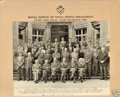 Royal School Of Mines Staff And Students .1958