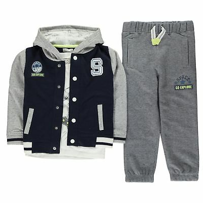 Crafted Kids Boys Tracksuit Infant Fleece Long Sleeve Round Neck Lightweight