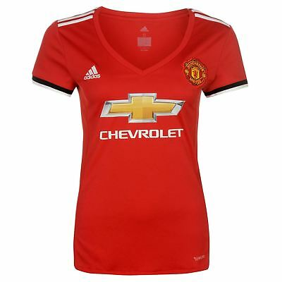 adidas Womens Manchester United Home Shirt 2017 2018 Mens Tee Top Short Sleeve