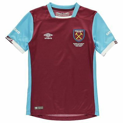 Umbro Kids West Ham United Home Shirt 2016 2017 Junior Tee Top Short Sleeve