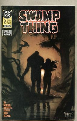 Swamp Thing #64-1987 nm Stephen Bissette last Alan Moore issue
