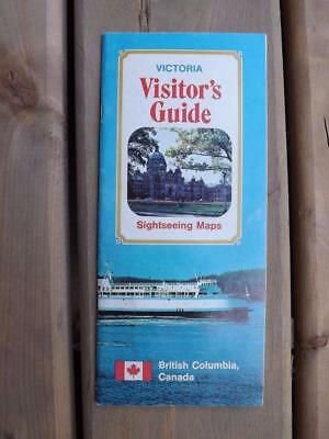 Victoria British Columbia Visitors Guide Sightseeing Maps 1969 Canada Travel