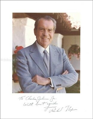 Richard M. Nixon - Inscribed Photograph Mount Signed