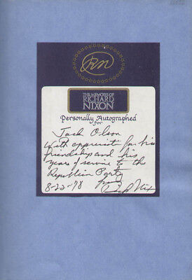 Richard M. Nixon - Inscribed Book Signed 08/22/1978