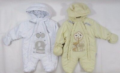 Baby Babies Boys Girls Pram Suit Cotton Fox Rabbit Elephant Snowsuit All In One