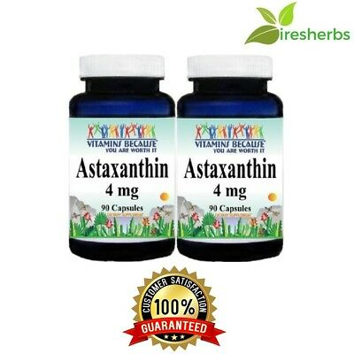 Astaxanthin Powerful Antioxidant Support 4mg 180 Capsule 6 Month Supply Made USA
