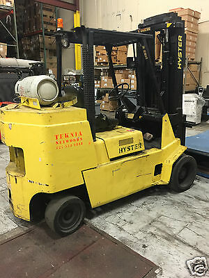 Hyster  8000 Lbs Propane Heavy Duty Forklift 1998 New Battery & Master Cylinder