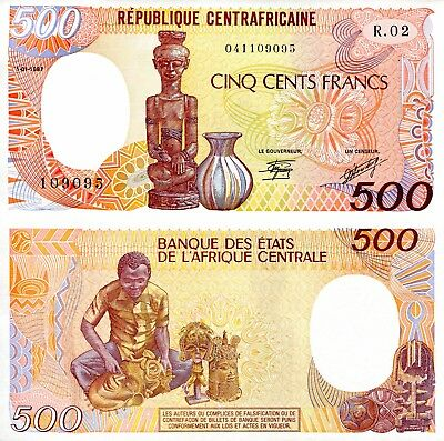 CENTRAL AFRICAN REPUBLIC 500 Franc Banknote World Paper Money UNC Currency p14c
