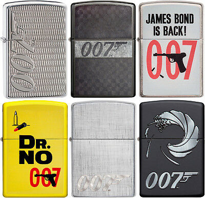 Zippo Original 007 James Bond 6 Lighter Poster Set Must See NEW L@@K