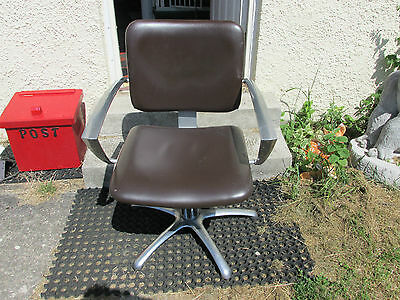 Art Deco Chair Swivel Office Chair Salon Chair Vintage Chrome Swivel Chair