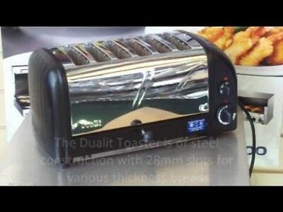 Dualit 6-Slice Manual Pop-Up Toaster. Black/chrome. 208 Volt Get 2Nd One For $50