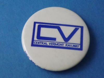 Central Vermont Railway Cv Hat Jacket Button Pin Back Railroad Train Collector