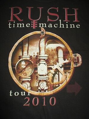 """2010 RUSH """"TIME MACHINE"""" Concert Tour (LARGE) T-Shirt GEDDY LEE PEART LIFESON"""