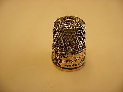 Antique Vintage Sewing Notion - Sewing Thimble Size 9 Simons - No Sterling Mark