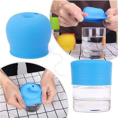 Silicone Re-useable Sippy Lids Cup Kid Toddler Spill Proof W