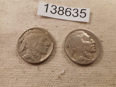 1934 D + 1935 S Buffalo Nickels - Very Nice Collector Grade Coins - # 138635