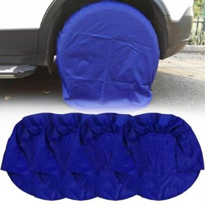 4pcs/Set 32 inch Wheel Tire Tyre Covers for RV Truck Car Camper Trailer Blue