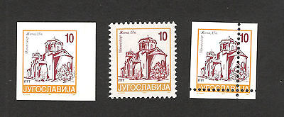 Yugoslavia-Mnh Stamp-Imperforated+Moved Perforation-Error-Definitive-1996.